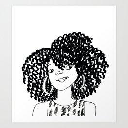 Big Hair Art Print