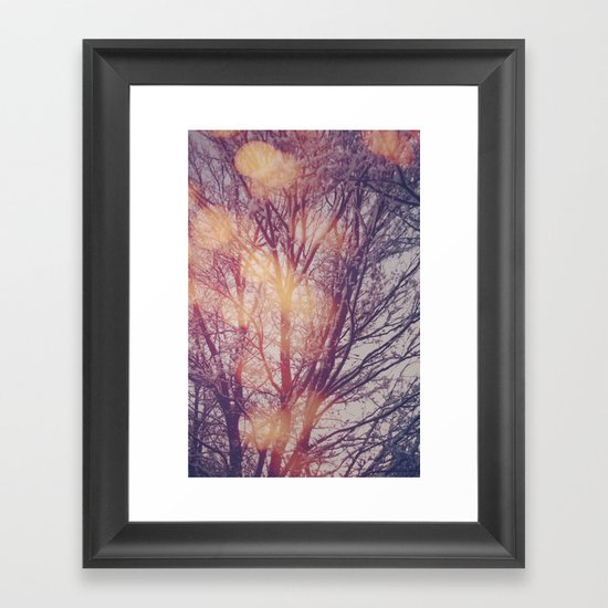 All the pretty lights (1) Framed Art Print
