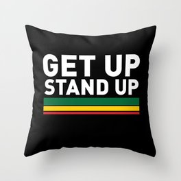 Get Up Stand Up / Rasta Vibrations Throw Pillow