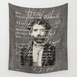 ROGUES GALLERY / 1894 Criminology - Bertillonage 005 Wall Tapestry