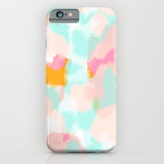 Bright and happy - pink, blue, orange abstract iPhone 6s Slim Case