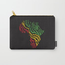 Reggae Map of Africa Afrocentric Zebra Animal Print Dub Roots Music Carry-All Pouch