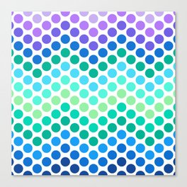 Dot Chevron: Blue Purple Canvas Print