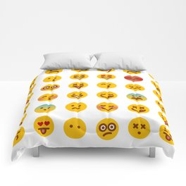 Cute Set of Emojis Comforters