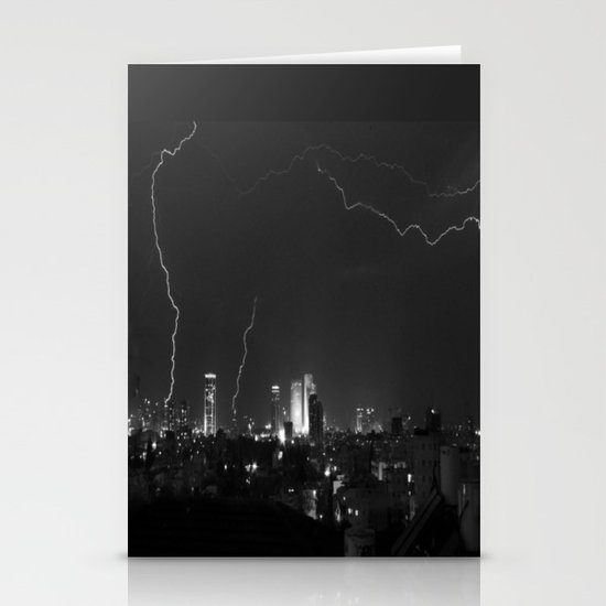 City Lightning Stationery Cards