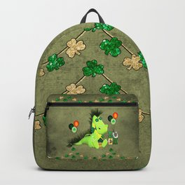 Happy st. patrick's day , cute little dragon Backpack