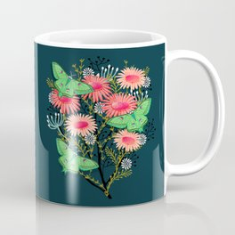 Luna Moth Florals by Andrea Lauren  Coffee Mug