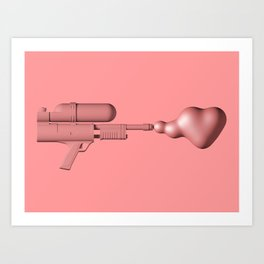 Bubble Gum Gun - Make Love Not War Art Print
