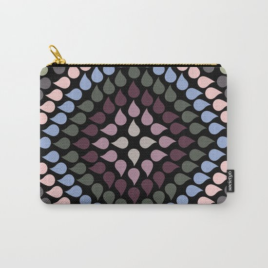 Seamless Colorful Raindrops VI Carry-All Pouch
