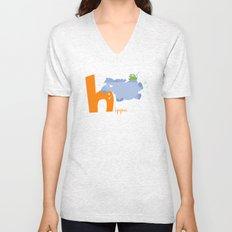 h for hippo Unisex V-Neck