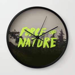 Force of Nature x Cloud Forest Wall Clock