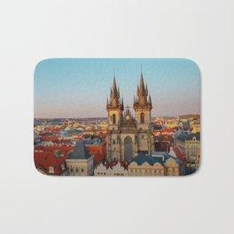 Orange Roofs of Prague Bath Mat