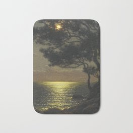 Classical Masterpiece 'Moonlit Coast' by Ivan Fedorovich Choultsé Bath Mat