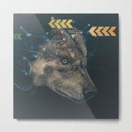 Urban wolf Metal Print