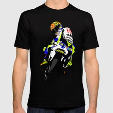 Valentino Rossi LARGE Black Mens Fitted Tee