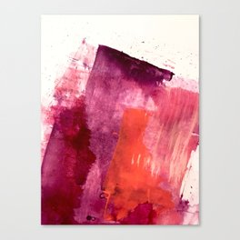 Blushing: a vibrant, minimal abstract in purple, pink, and red Canvas Print