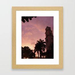 Cotton Candy Paradise Framed Art Print