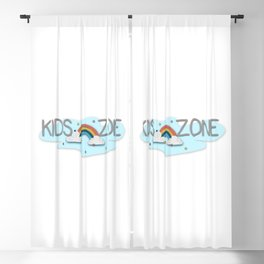 Kids Zone Rainbow Logo sign Blackout Curtain