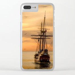 Sailing ship Clear iPhone Case