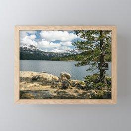 No Fishing Framed Mini Art Print
