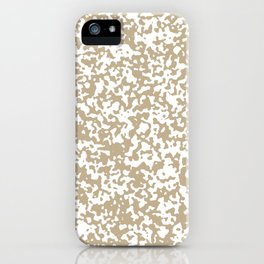 Small Spots - White and Khaki Brown iPhone Case
