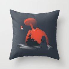 Furi Kuri - Nothing amazing happens here Throw Pillow
