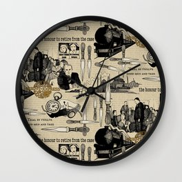 Murder on the Orient Express (Agatha Christie) Toile de Jouy Wall Clock