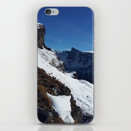 Gemmipass above Leukerbad, Valais, Swiss Alps IV iPhone Skin