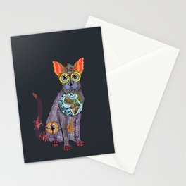 Sea Cat with friends Stationery Cards