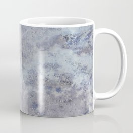 Speckled Blue and Gray Marble Coffee Mug
