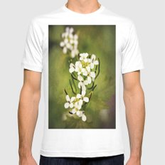 Petals of White MEDIUM Mens Fitted Tee White