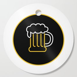 Beer Mug Foam  Neon Sign Icon Cutting Board