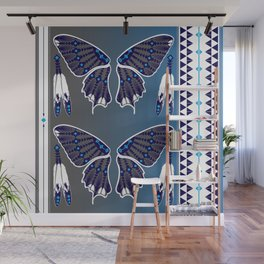 Butterfly Nation Blue Wall Mural