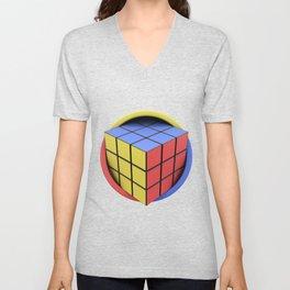 Rubik's Cube Unisex V-Neck