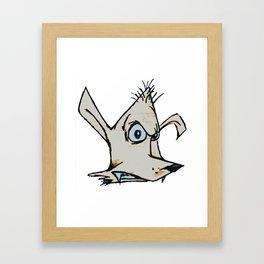 Skanking Wolf (head only) Framed Art Print