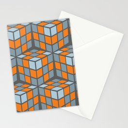 cascade - orange Stationery Cards