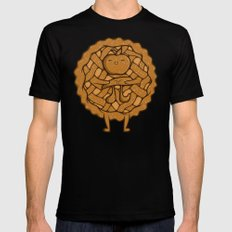 Apple Pi Black Mens Fitted Tee LARGE