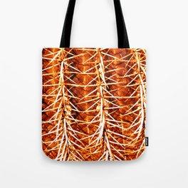 Cactus Pattern Orange Tote Bag
