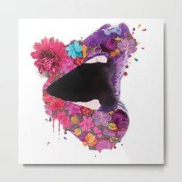ethnic lips Metal Print