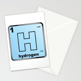 Hydrogen From The Periodic Table Stationery Cards