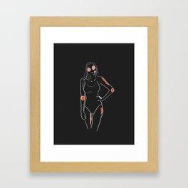 Bodylineart - Sunnies Framed Art Print