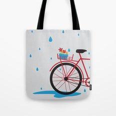Bicycle & rain Tote Bag