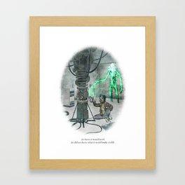 BEHIND YOU 16 Framed Art Print