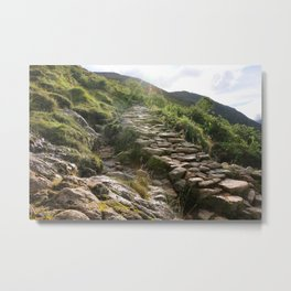 Stairs on a mountain Metal Print