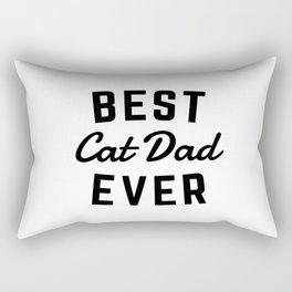 Best Cat Dad Ever Rectangular Pillow