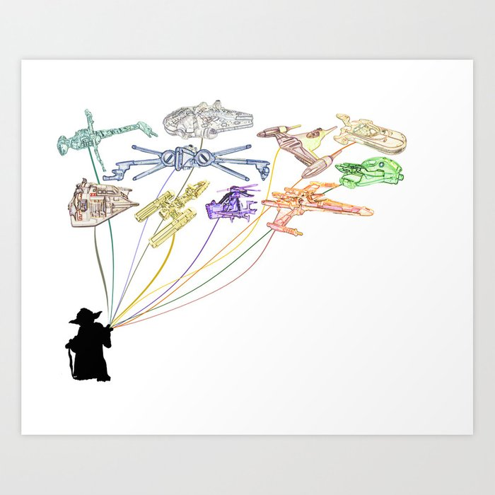 Balloons From The Rebel Alliance Art Print