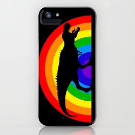 T-Rex Rainbow War iPhone Case