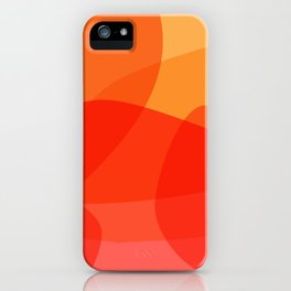 Abstract Organic Shapes in Red iPhone Case