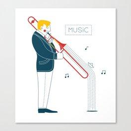 Trombonist Canvas Print