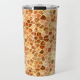 Faux Giraffe Skin Abstract Pattern Travel Mug